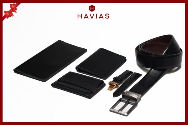 Gift Set Quà tặng da thật Premium HAVIAS Mystery, quà tặng Couple