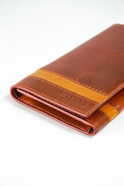 Ví Dài nam nữ The Heyday2 Mini Long Wallet may thủ công màu nâu
