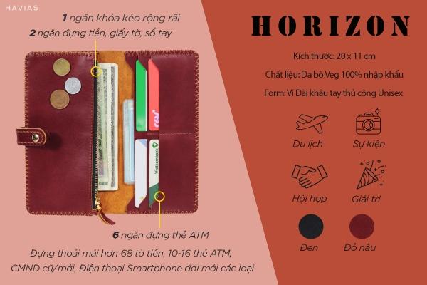 Ví-dài-Horizon-Handmade-Wallet-màu-đỏ-nâu-havias