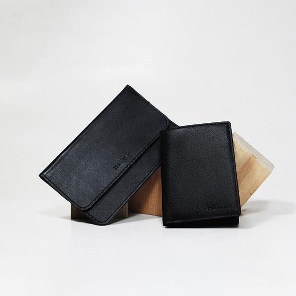 Bóp ví da thật nam nữ HAVIAS Couple Ví The Momo & Verzip Wallet Black