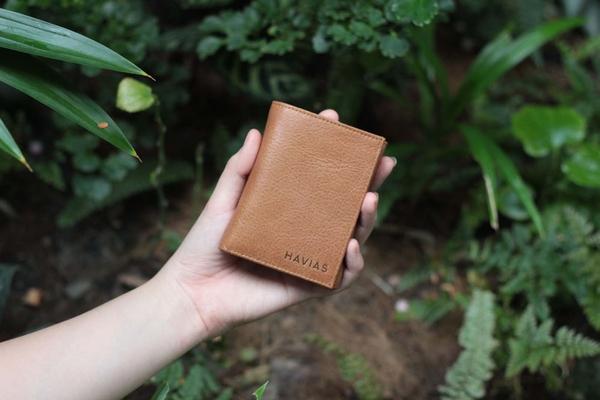 Ví da thật Mini Note Wallet Havias