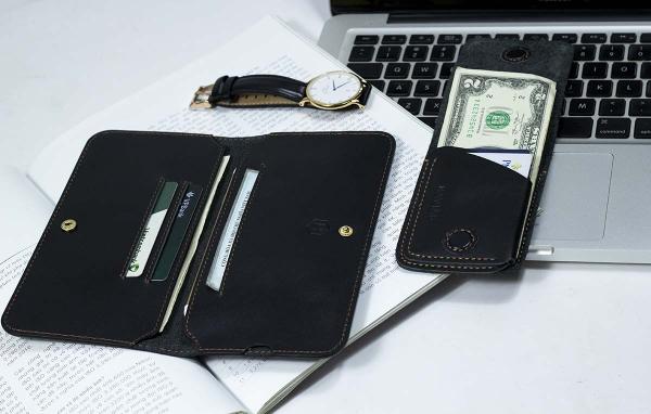 Couple_ví_Lemo_Handcrafted_&_Gerbera_Mini_Wallet_Black
