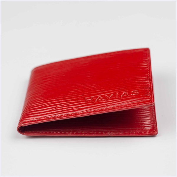 Couple Ví Da & Ví Card Rosy Luck Wallet Red