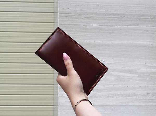 ví da dài cầm tay venuta2 havias ví da màu đỏ nâu