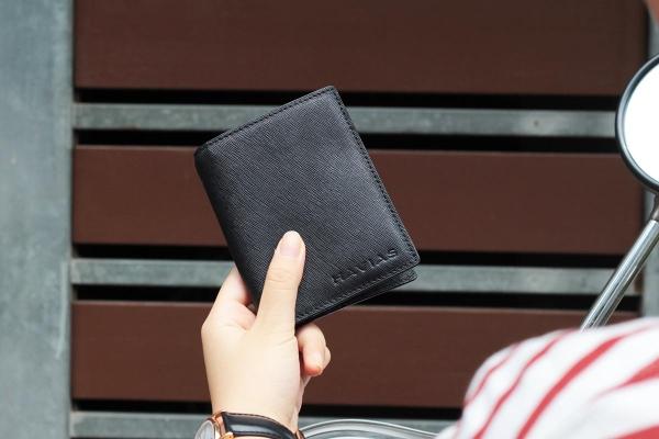 Ví da đứng Gen8 Handcrafted Wallet đen
