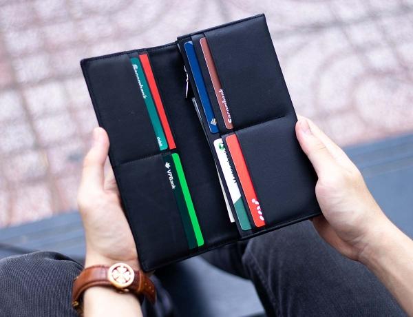 Ví dài Midas Handcrafted Wallet_da Calfskin_màu đen_3