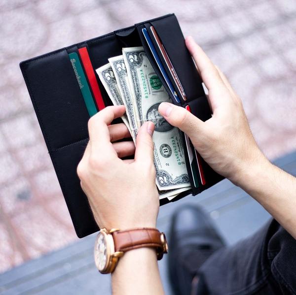 Ví dài Midas Handcrafted Wallet_da Calfskin_màu đen_4