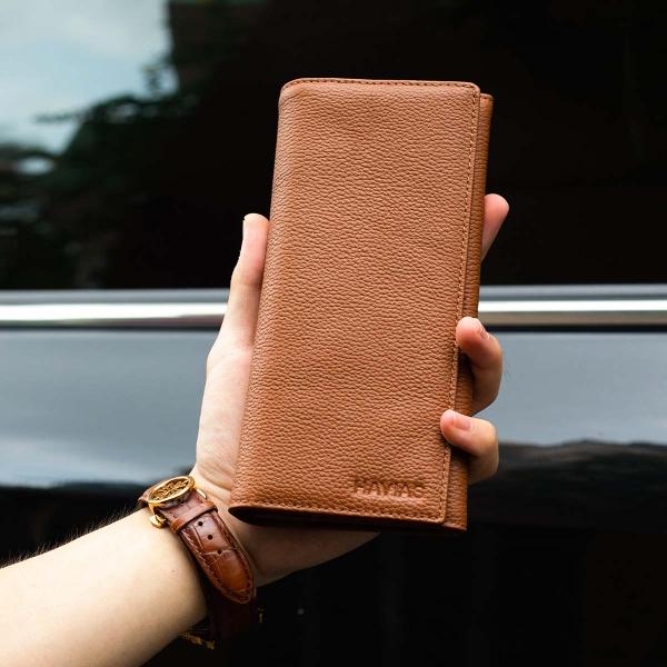 Ví dài Midas Handcrafted Wallet_da Calfskin_màu vàng bò_3
