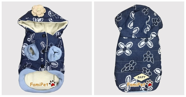 Áo Bông Hình Hoa 4 Cánh Cho Chó Mèo