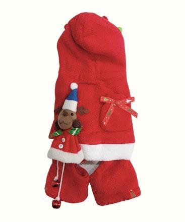 Bộ Áo Liền Quần Noel Có Chuông Cho Thú Cưng