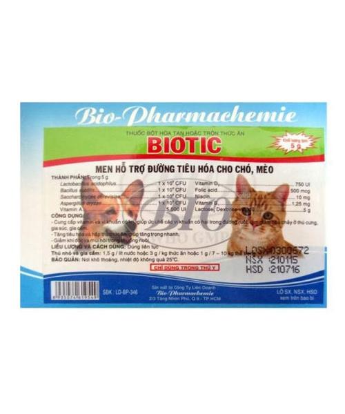 Men Hỗ Trợ Đường Tiêu Hóa Cho Chó Mèo Biotic