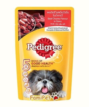 Thức Ăn Cho Chó Lớn Pedigree Vị Bò Nấu Sốt