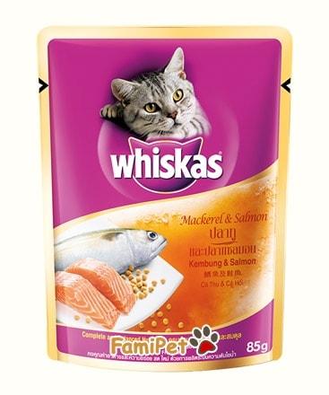Pate Cho Mèo Whiskas Vị Cá Thu & Cá Hồi
