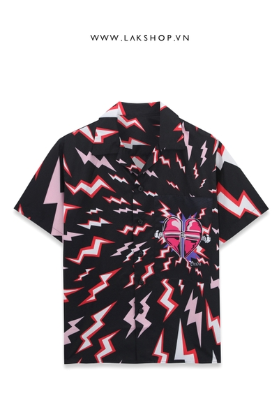 Prada Lightning Bolt Oversized Shirt