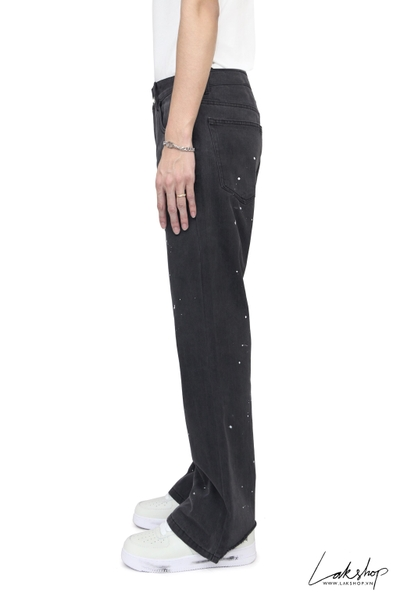 Quần Black Paint Splash Losse Fit  Denim Jean