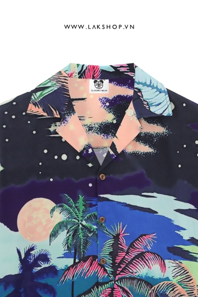 Hawaiian Galaxy Oversized Short-Sleeve Shirt