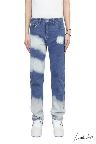Quần Blue Cloud Losse Fit  Denim Jean