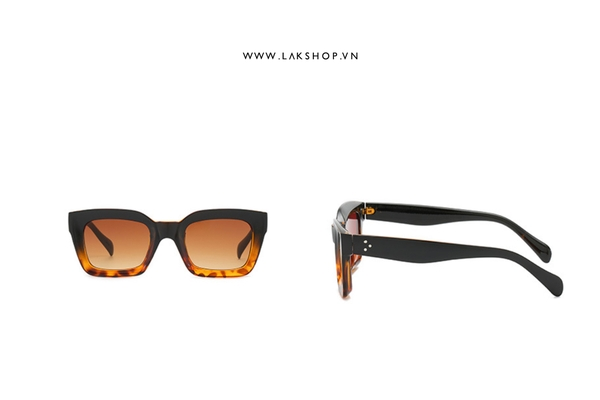 Kính Ombre Black Square Sunglasses