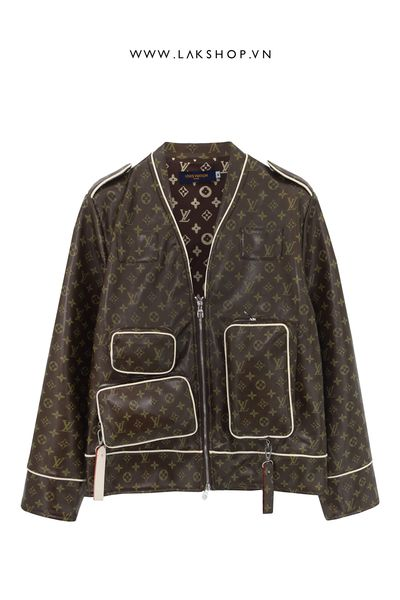 Áo Louis Vuitton Brown Monogram Admiral Jacket