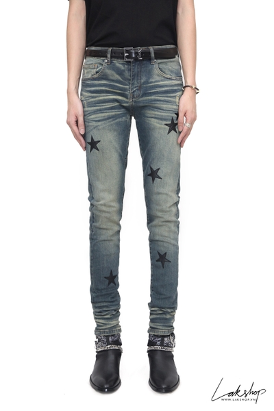 Amiri Thrasher Skinny-Fit Distressed Stretch-Jean