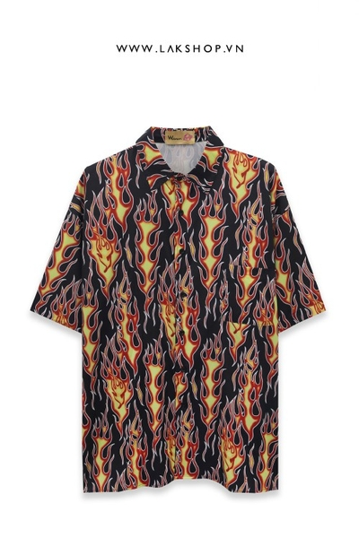 Flame Oversize Short Sleeve Shirt