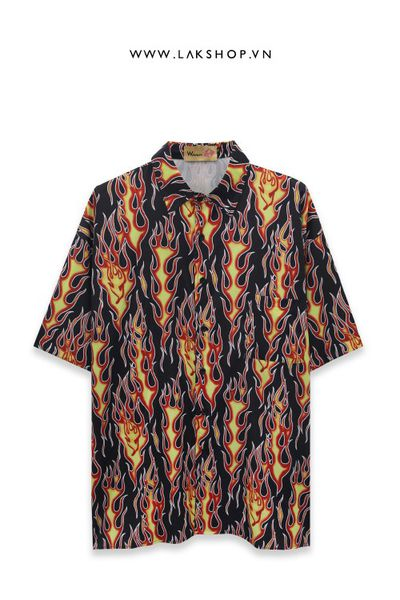 Flame Oversize Short Sleeve Shirt ds20