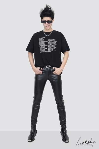 Louis Vuitton Cable Pattern I Black T-shirt