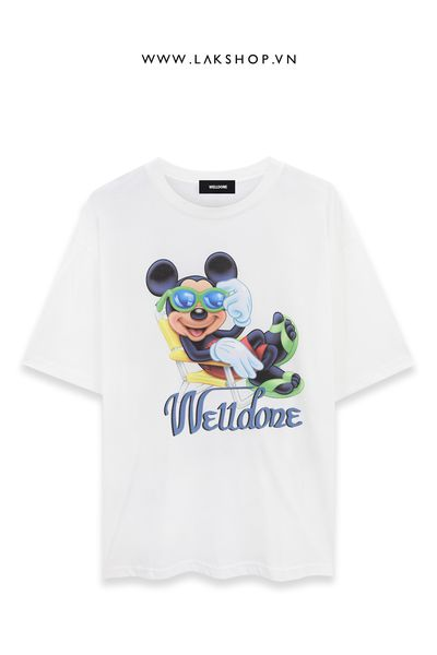 Welldone x Mickey White Oversized T-Shirt (bản đẹp 1:1)