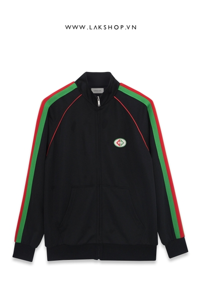 Gucci Black/Green Logo Track Jacket ds20