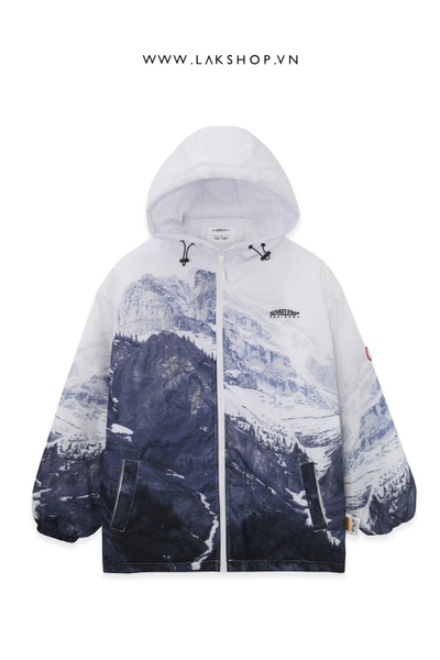 Áo White Mountains Print Padded Jacket