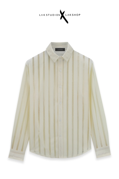 LakStudios Cream White Stripe Shirts