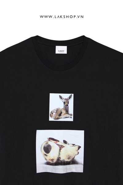 Burberry Deer-print cotton T-shirt