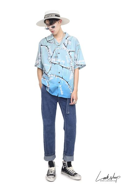 LakStudios Animal Begie Velvet Shirt