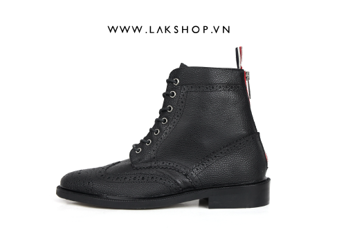 Thom Browne Classic Long Wingtip Brogue Boots