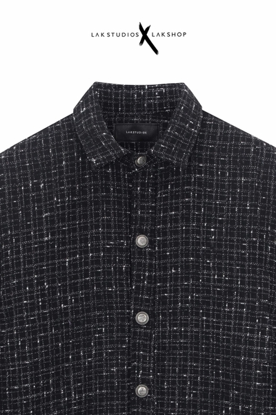 Lak Studios Black Tweed Check Shirt