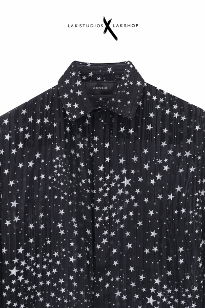 Lak Studios Allover Star Stripe Shirt