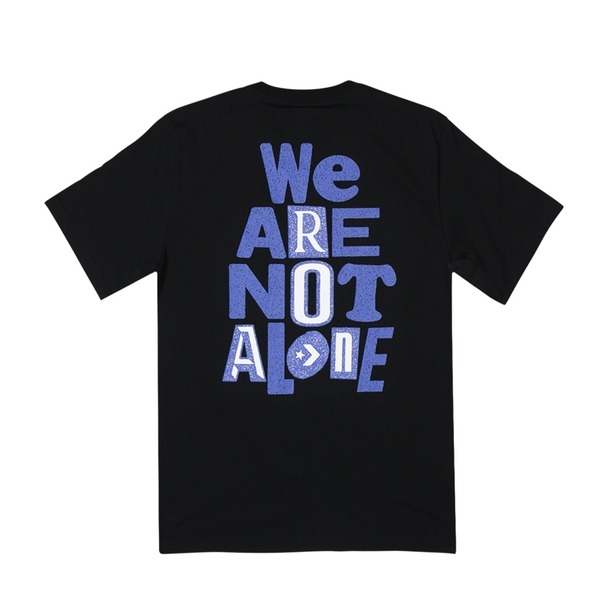 Áo Converse We Are Not Alone Tee - Black - 10018178001