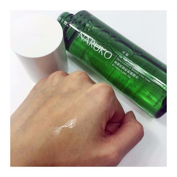Nước cân bằng trị mụn chiết xuất tràm trà Naruko Tea Tree Shine Control & Blemish Clear Toner 150ml