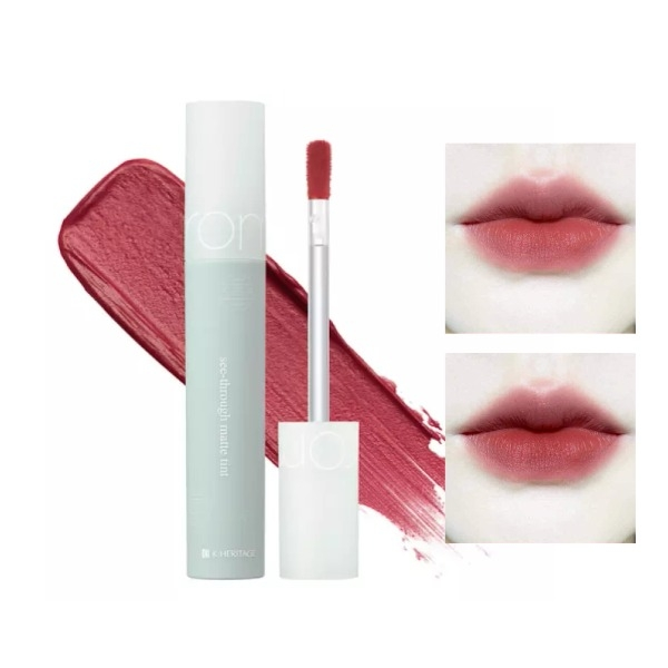 Son Kem Mịn Lì Romand Hanbok See-Through Matte Tint #08 Flower Coral