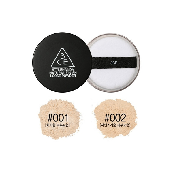 Phấn phủ bột 3CE Natural Finish Loose Powder
