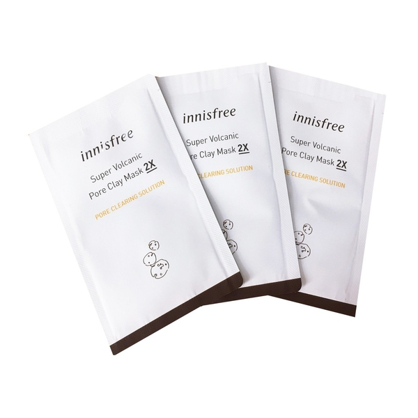 Sample Mặt Nạ Đất Sét Innisfree Super Volcanic Pore Clay Mask 2X