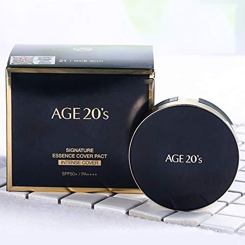 Kết quả hình ảnh cho Phấn Nền Age 20's Signature Essence Cover Pact Intense Cover #21 (Đen)