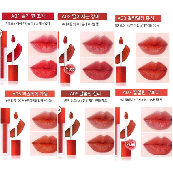 Son Kem Lì Phiên Bản 1 Black Rouge Air Fit Velvet Tint Version 1 | LJ Beauty