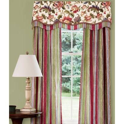 Hearthwood Stripe Lined Rod Pocket Curtains