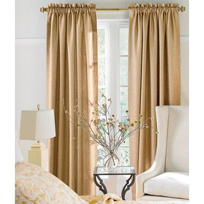 Soft Tweed Lined Rod Pocket Curtains