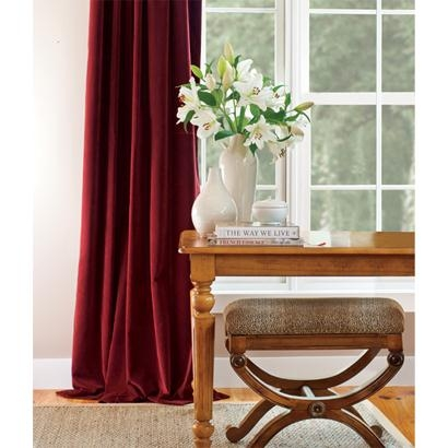 Hyde Park Lined Velvet Rod Pocket Curtains