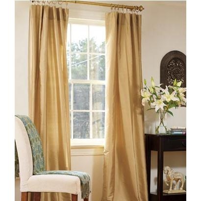 Ashford Silk Lined Rod Pocket Curtains