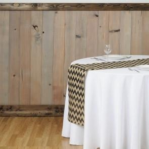 14 x 108 in. Chevron Burlap Table Runner Charcoal
