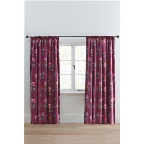 Darcey Floral Print Pencil Pleat Curtains