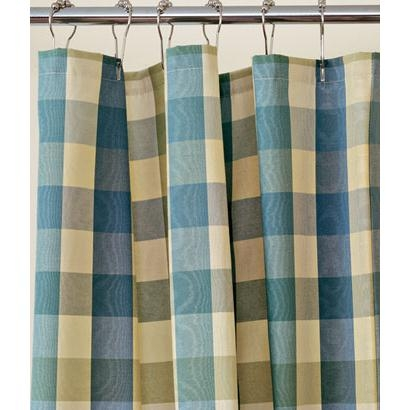Moire Plaid Shower Curtain